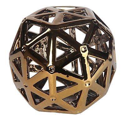 Privilege Ceramic Ball Sculpture; Gold