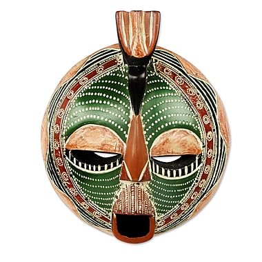 Novica Round Hand-Crafted Mask Wall D cor