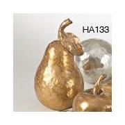 Saro Resin Pear Sculpture; Gold