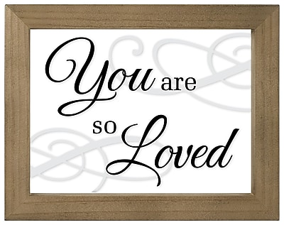 Malden You are Loved Float Block Wall Decor