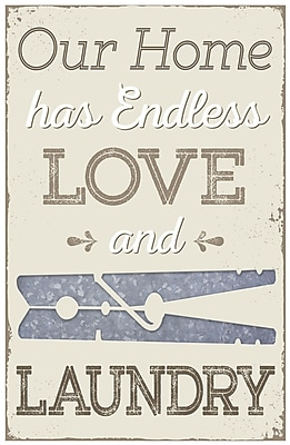 Malden Neil Love and Laundry Sign Wall Decor