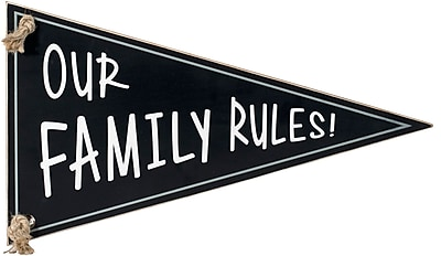 Malden Our Family Rules! Pennant Wall Decor
