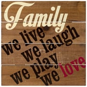 Malden Family-We Love Sign Wall Decor