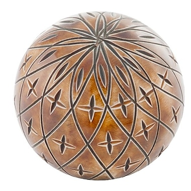 Modern Day Accents Astro Etched Bone Sphere Sculpture