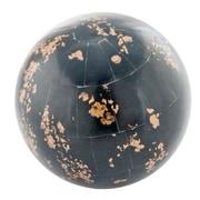 Modern Day Accents Hueso Bone Sphere Sculpture; Black