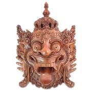 Novica Oka Pastika and Ketut Mustika Baruna God of The Sea Cultural Mask Wall Decor