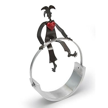 Novica Luitpo Circus Act w/ Heart Steel Sculpture