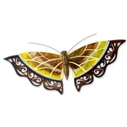 Novica J.Blas Yellow Mosaic Glass Wall Decor