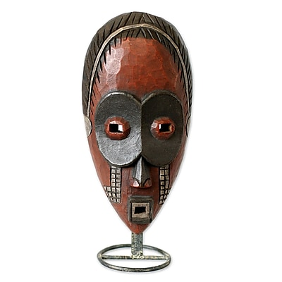 Novica Rita Addo Zakour Dan Ghost Ivoirian Wood African Mask Wall Decor