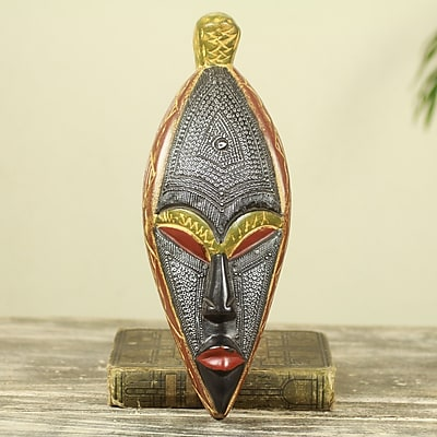 Novica Fair Trade Artisan Crafted Wood African Mask Wall Decor