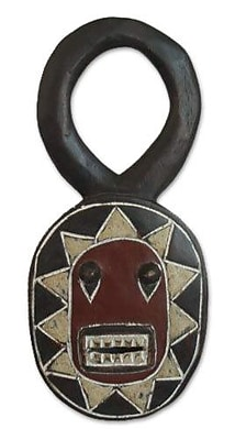 Novica Spirit of Mischief Hand-crafted Wood Mask Wall D cor