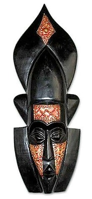 Novica Wonderful Hand Carved Wood Mask Wall D cor