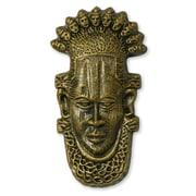Novica Yoruba Chiefs Ceramic Mask Wall D cor