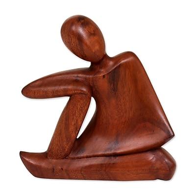 Novica Unwind Suar Wood Figurine