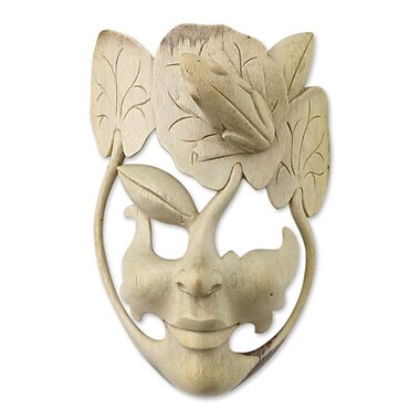 Novica Unique Carved Wood Mask Wall D cor