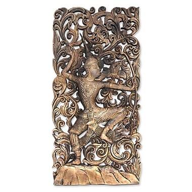 Novica Wood Hinduism Relief Panel Wall D cor