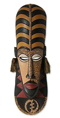 Novica Ashanti Wisdom African Wood Mask Wall D cor