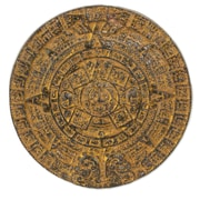 Novica Glorious Aztec Calendar Sun Stone Replica Ceramic Art Hand Crafted Wall D cor