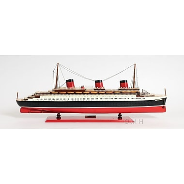 Old Modern Handicrafts Normandie Large Painted Model Boat