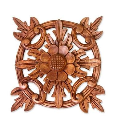 Novica Sunflower Star Wood Wall D cor