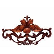 Novica Hibiscus Wood Sculpture Wall D cor