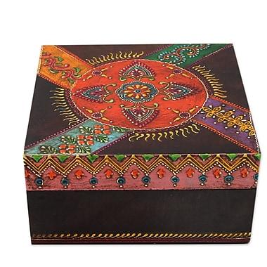 Novica Festival of Flowers Hand Painted Decorative Box