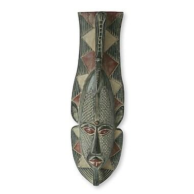 Novica Venerable Elder Wood Mask Wall D cor