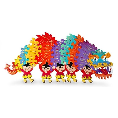 Novica Decorative Chinese Dragon Wood Display Jigsaw Puzzle