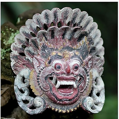 Novica Boma of the Forest Wood Mask Wall D cor