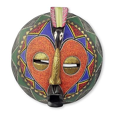 Novica Akoma Bird African Beaded Mask Wall D cor