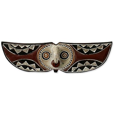 Novica Bwa Butterfly Bird African Burkina Faso Wood Mask Wall D cor