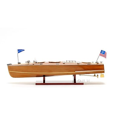 Old Modern Handicrafts Christ Craft Medium Triple Cockpit Model Boat
