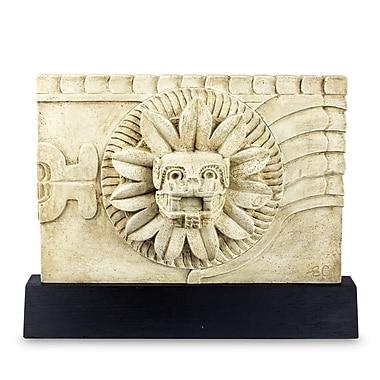 Novica Aztec Feathered Serpent Deity w/ Stand Sculpture