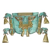 Novica Chimu Elegance Bronze and Copper Mask Wall D cor