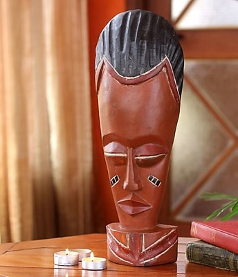 Novica Authentic African Mask Sculptural