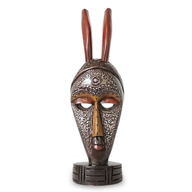 Novica Boli Protection African Wood Mask Sculptural