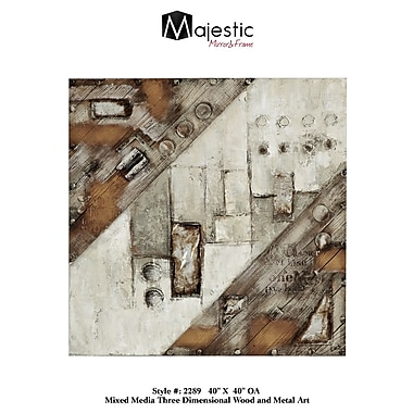 Majestic Mirror 3D Mixed Media Wood And Metal Wall Art