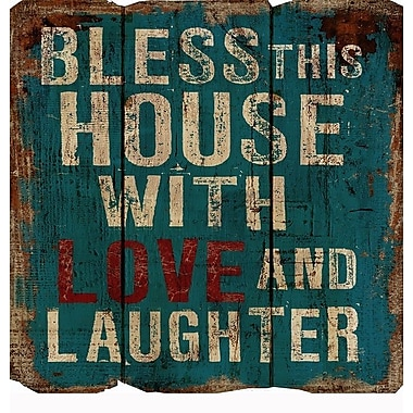 Nora Lane Bless This House w/ Love and Laughter Wall D cor