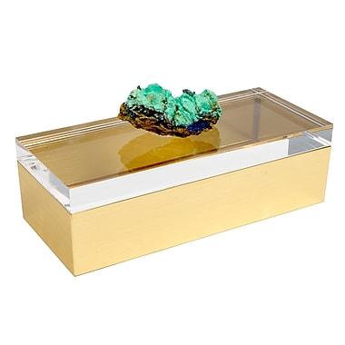 Mapleton Drive Acrylic Box w/ Azurite Crystal Specimen