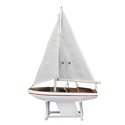 Handcrafted Nautical Decor It Floats Intrepid Model Sailboat