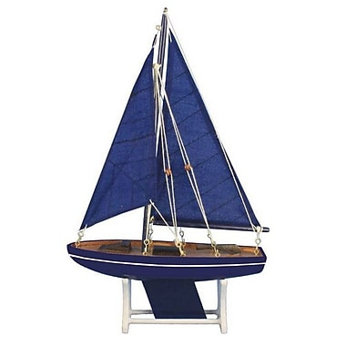 Handcrafted Nautical Decor It Floats Ocean Breeze Model Sailboat