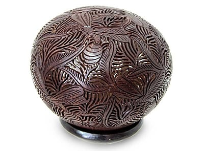 Novica Coconut Shell Sculpture
