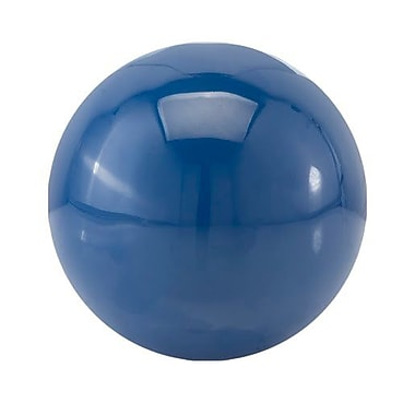 Modern Day Accents Decorative Bola Sphere Sculpture; Classic Blue
