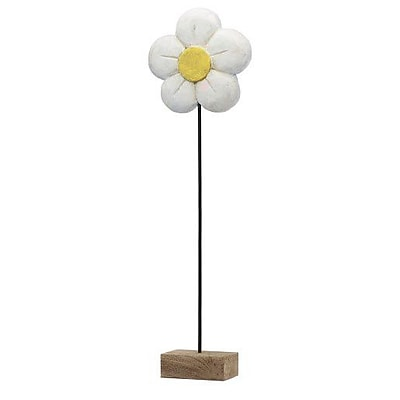 Modern Day Accents Decorative Margarita Daisy on Stand Sculpture; 33'' H x 10'' W