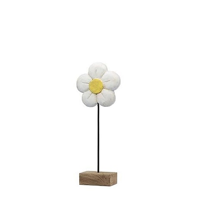Modern Day Accents Decorative Margarita Daisy on Stand Sculpture; 21'' H x 8'' W