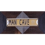 11.25'' H x 22.25'' W Ready to Hang 'Man Cave' by Sam O. Words and Messages Mixed Metal Art D cor