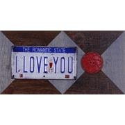 11.25'' H x 22.25'' W Ready to Hang 'I Love You' by Sam O. Words and Messages Mixed Metal Art D cor