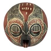 Novica Man of Fire Wood Mask Wall D cor