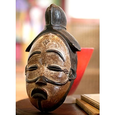 Novica Judge And Feast Gabonese Wood Mask Wall D cor