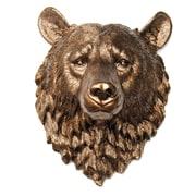 Near and Deer Faux Taxidermy Bear Head Wall D cor; Bronze